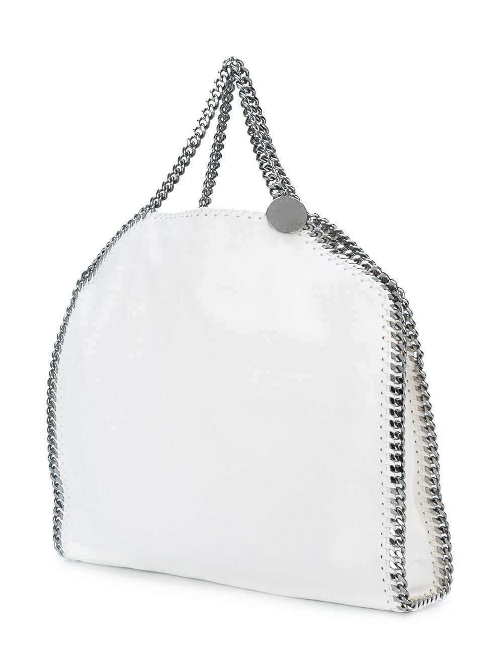 Stella McCartney Leather Falabella Tote in White