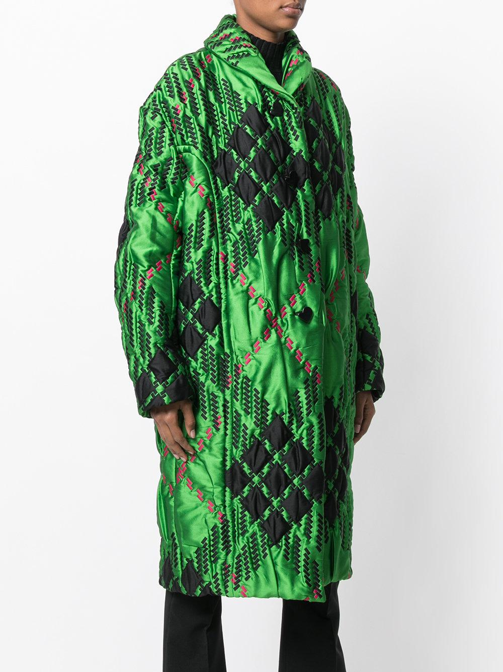 Free Shipping Wiki Marni diamond print quilted coat Discount View Classic Cool Shopping F2y1CAwb