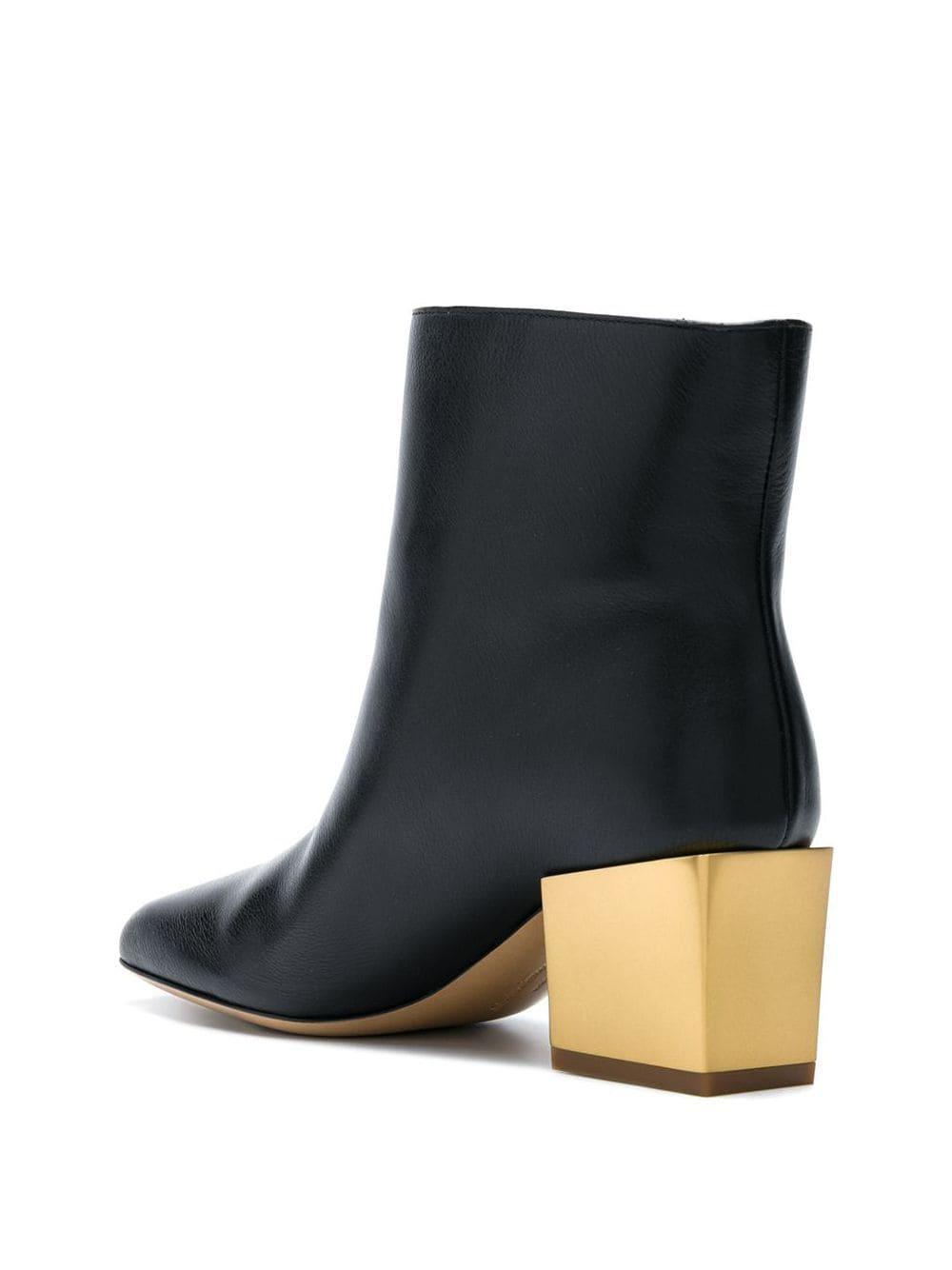Ferragamo Leather Albiano Ankle Boots in Black