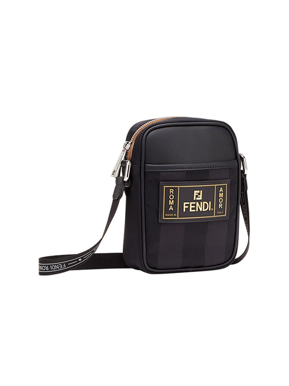 a6b9f32a6fce Fendi Small Cross Body Bag in Black for Men - Lyst