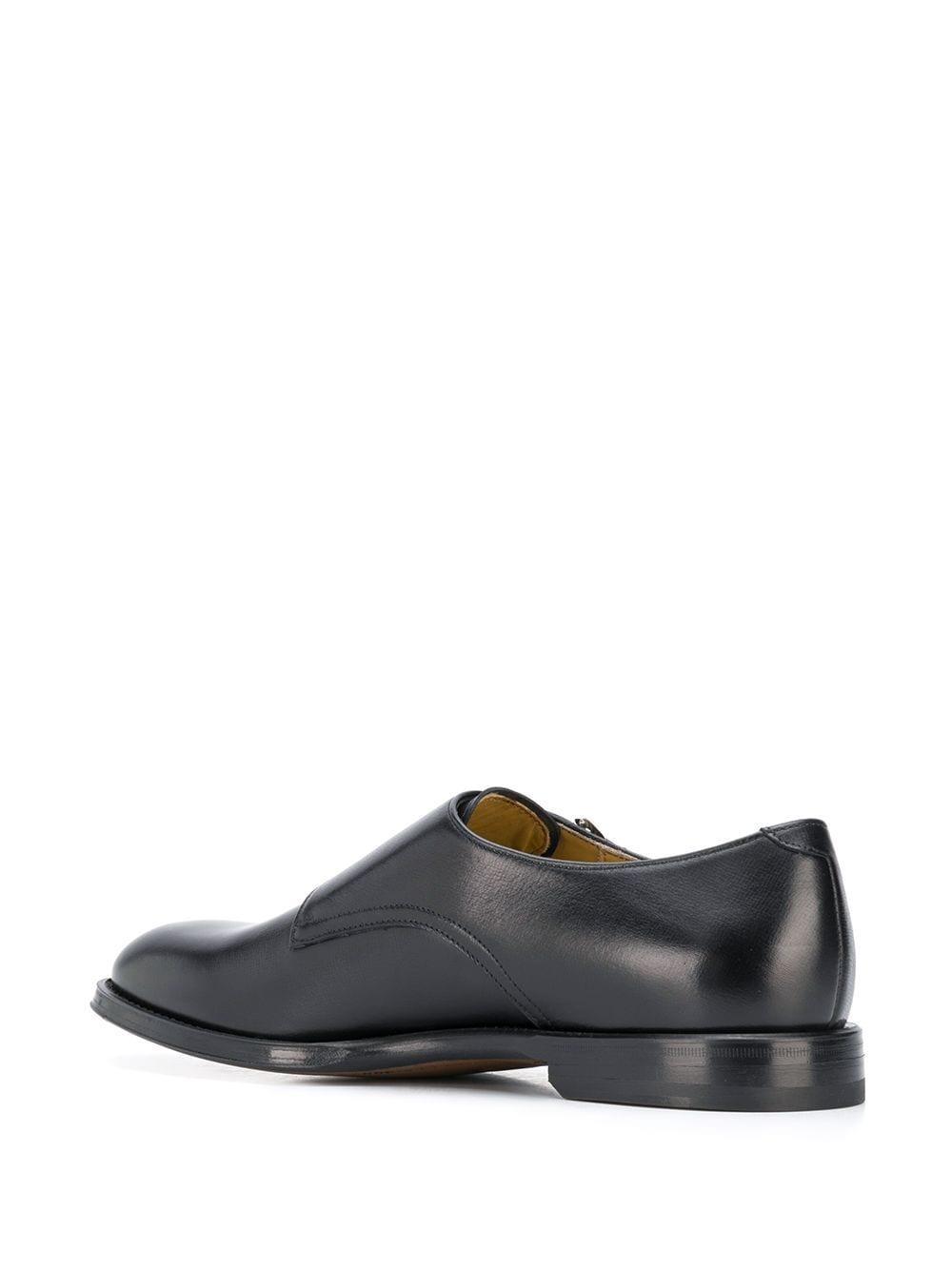 Zapatos monk Newton SCAROSSO de Cuero de color Negro para hombre