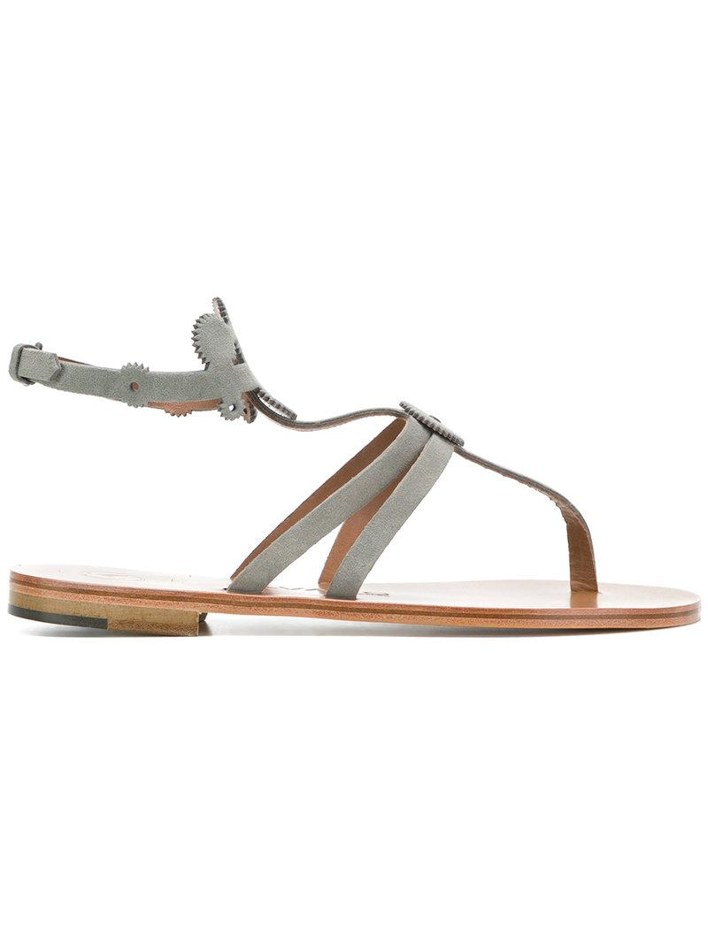 505afc834482 Alvaro - Gray Thong Sandals - Lyst. View fullscreen