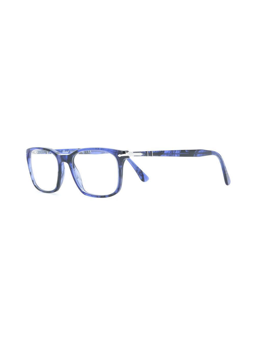 Lunettes Blue Persol Pour Vue En À Homme Rectangulaire De Monture Coloris UVMSzp