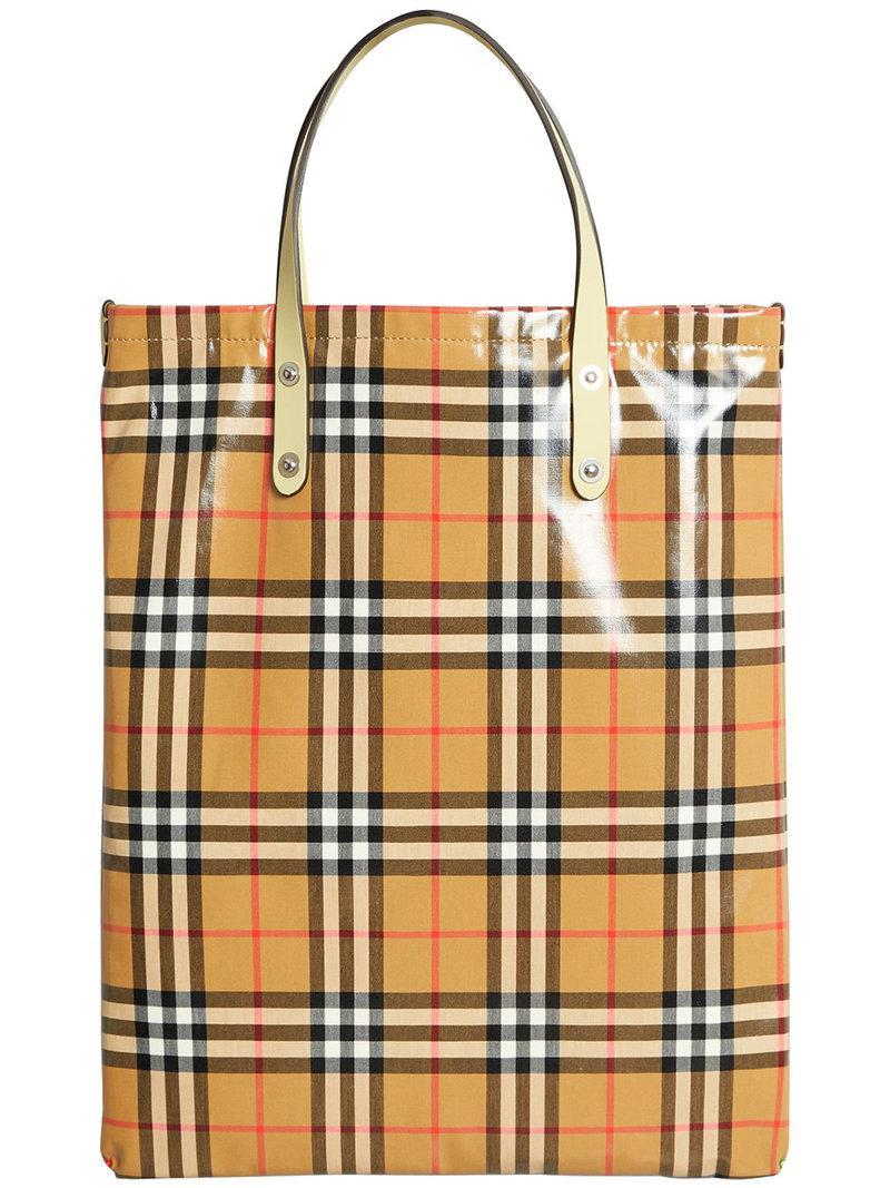 Burberry Grand sac porté épaule à carreaux Vintage 2SWEkExGO