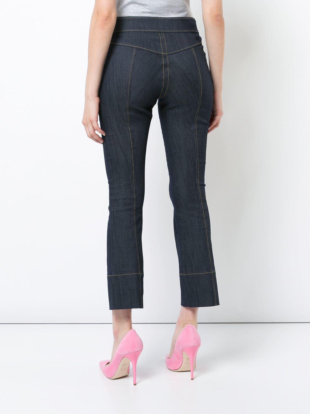 Cinq À Sept Denim Cropped-Bootcut-Jeans in Blau EHu15