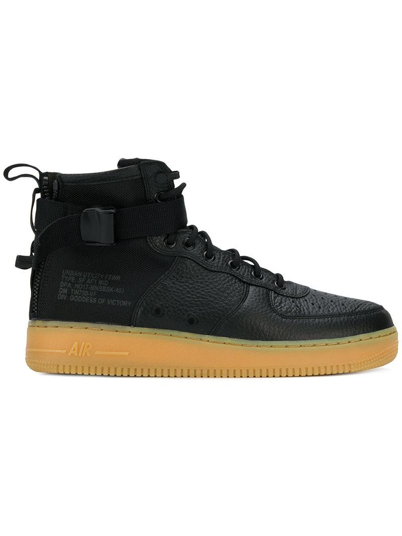 62999f928c Lyst - Nike Sf Air Force 1 Mid Sneakers in Black for Men