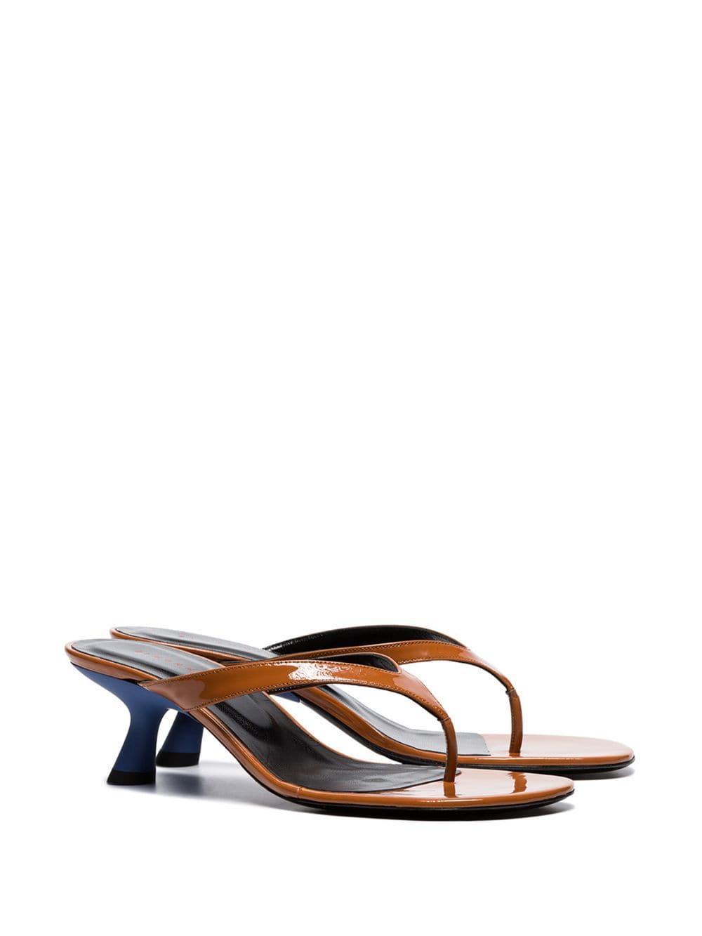 669a5d2da Simon Miller - Brown Beep 45 Patent Leather Thong Sandals - Lyst. View  fullscreen