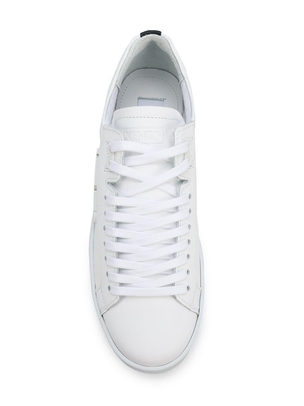 Zapatillas con placa del logo KENZO de Cuero de color Blanco