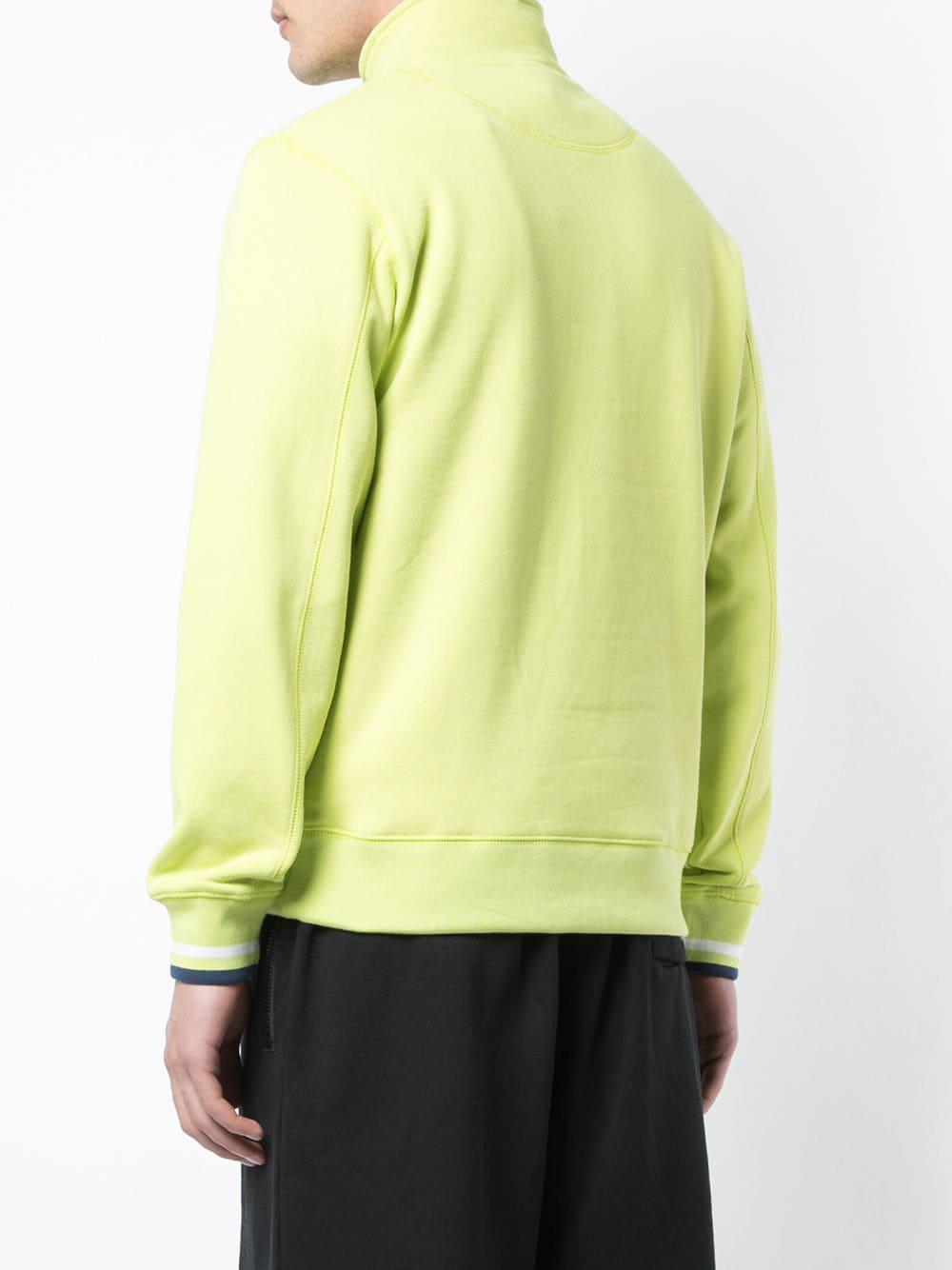 Stussy Fleece Sweater Met Hoge Hals En Logo in het Groen voor heren