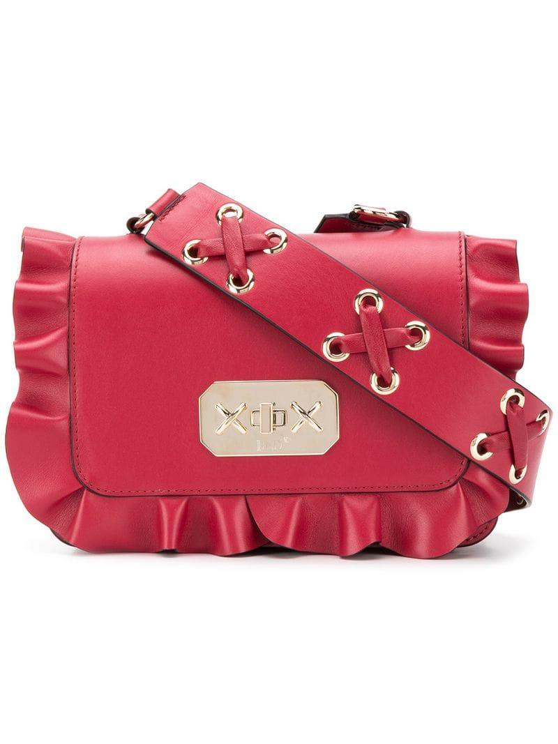 02acecfa1be5b RED Valentino Red (v) Rockruffle Shoulder Bag in Red - Lyst