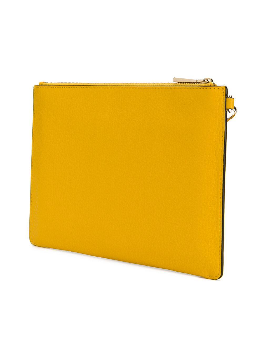 8e7713c551ebb3 MICHAEL Michael Kors - Yellow Floral Embellished Pouch - Lyst. View  fullscreen