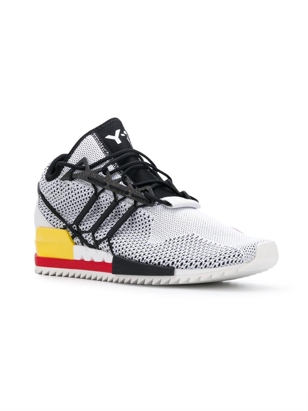 Y-3 Neoprene Harigane Sneakers in White