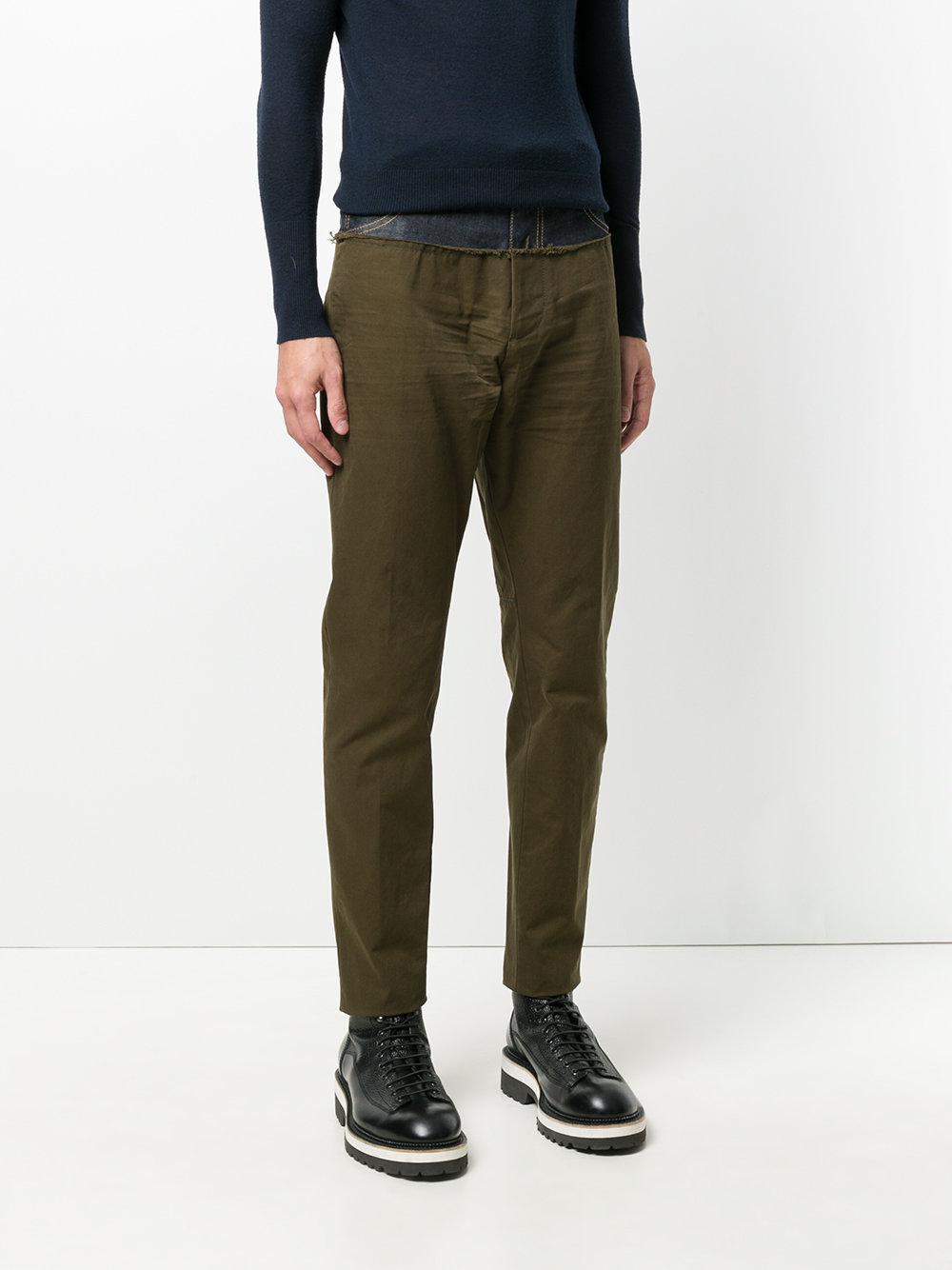 DSquared² Denim Jeans Bicolore A Gamba Dritta in Green for Men