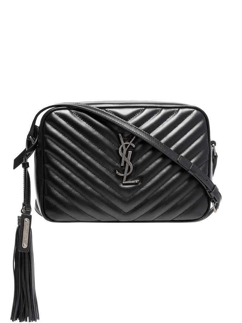 Saint Laurent Black Lou Quilted Leather Shoulder Bag in Black - Lyst 6777db25a1d9b