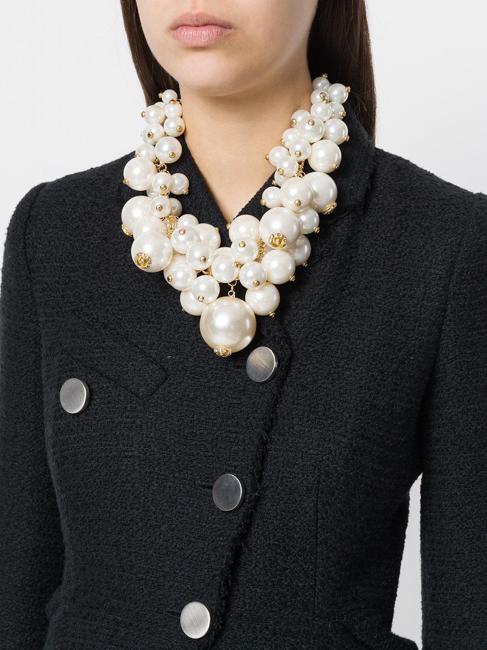 7d123d8eb8fea Edward Achour Paris White Oversized Pearl Necklace