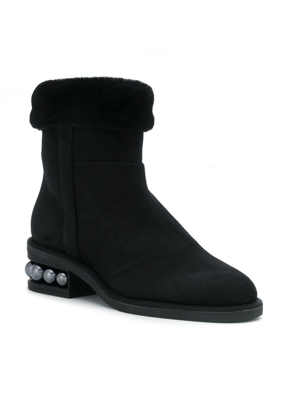 Slip Boots Nicholas On Lyst Black Kirkwood In Casati Pearl YFcdcIw7q