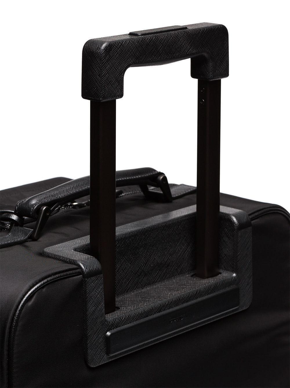 6d369515e02691 Prada - Black Logo Plaque Cabin Trolley for Men - Lyst. View fullscreen