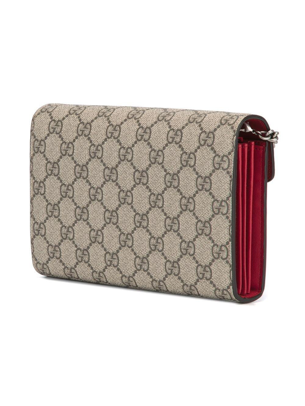 c8869ef01c4 Gucci - Multicolor Logo Print Crossbody Bag - Lyst. View fullscreen