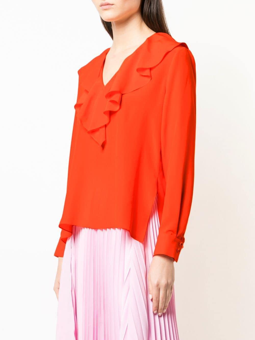 Orange Bahamas Fendi In Blouse Lyst fHnIqW8w 4da8e54843c