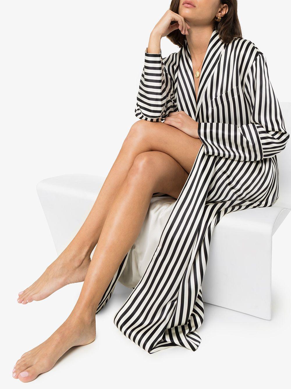 Robe de chambre Capability Soie Olivia Von Halle en coloris Blanc