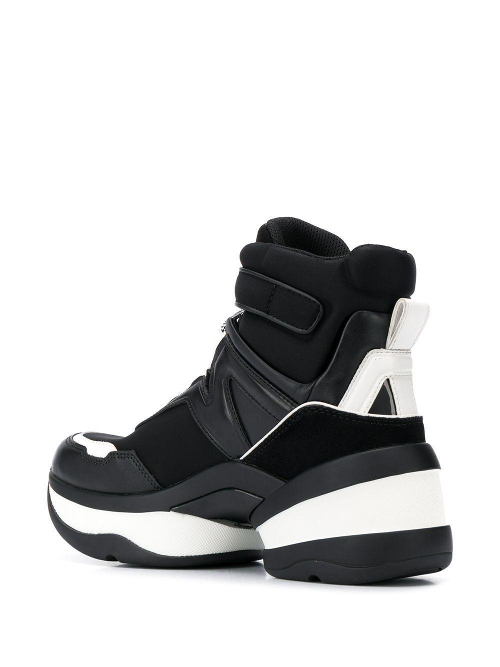 Zapatillas altas con diseño de paneles MICHAEL Michael Kors de Tejido sintético de color Negro