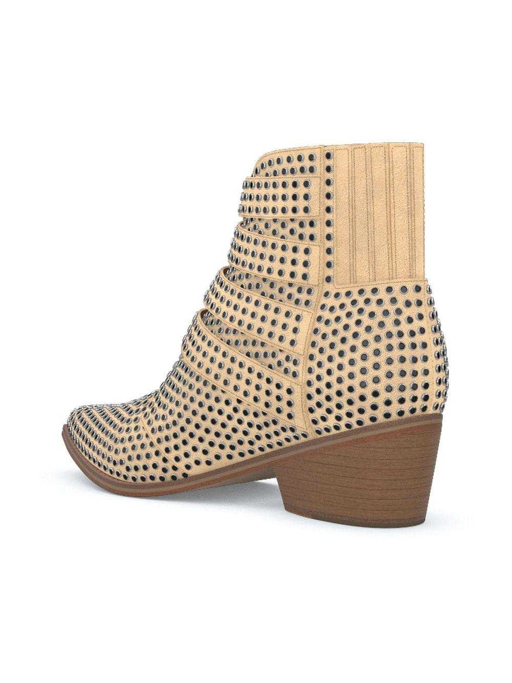 Toga Leather Customisable Aj006 Michael Boots in Natural