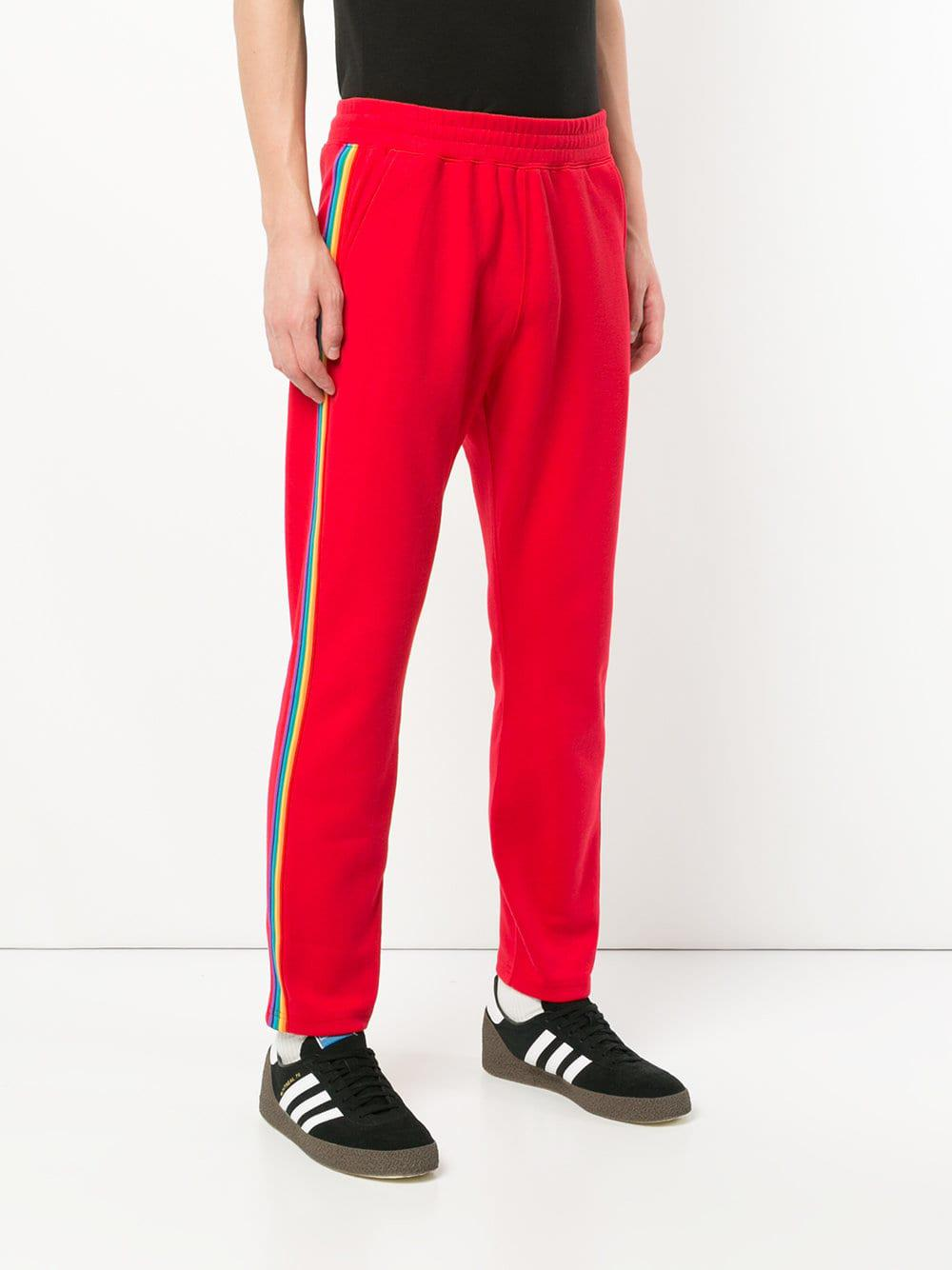 Guild Prime Cotton Exclusive For Farfetch Track Trousers in Red for Men