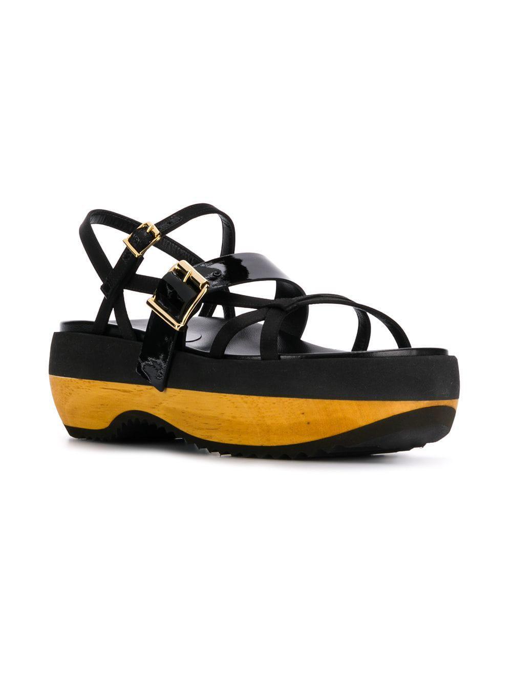 9a7eba9cdaf8 Lyst - Marni Platform Fussbett Sandals in Black
