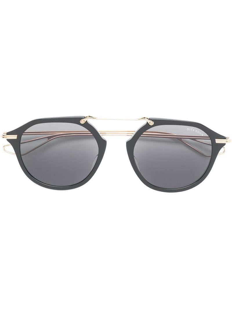 0cbd0b513558 Dita Eyewear Round Tinted Sunglasses in Black - Lyst
