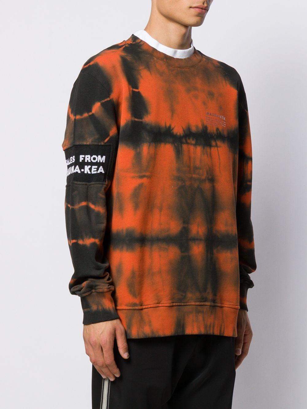 Mauna Kea Katoen Sweater Met Tie-dye in het Zwart voor heren