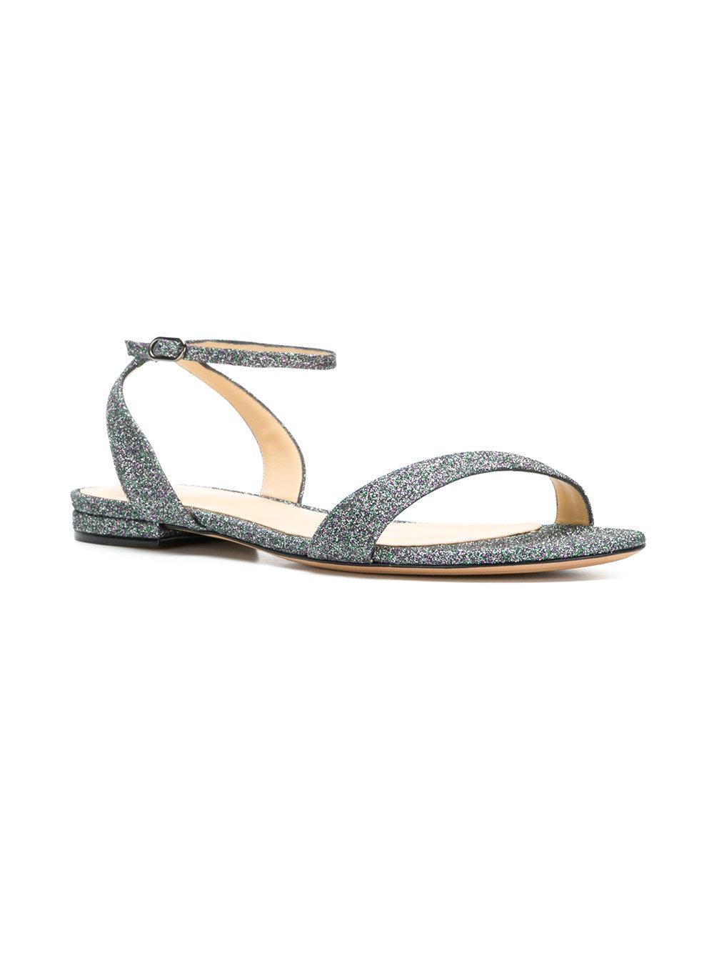 glitter buckled sandals - Metallic Alexandre Birman O5aVDT54