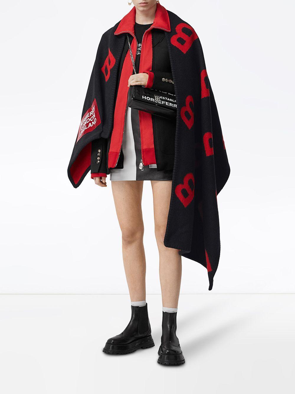 Capa reversible estilo manta Burberry de Lana de color Negro