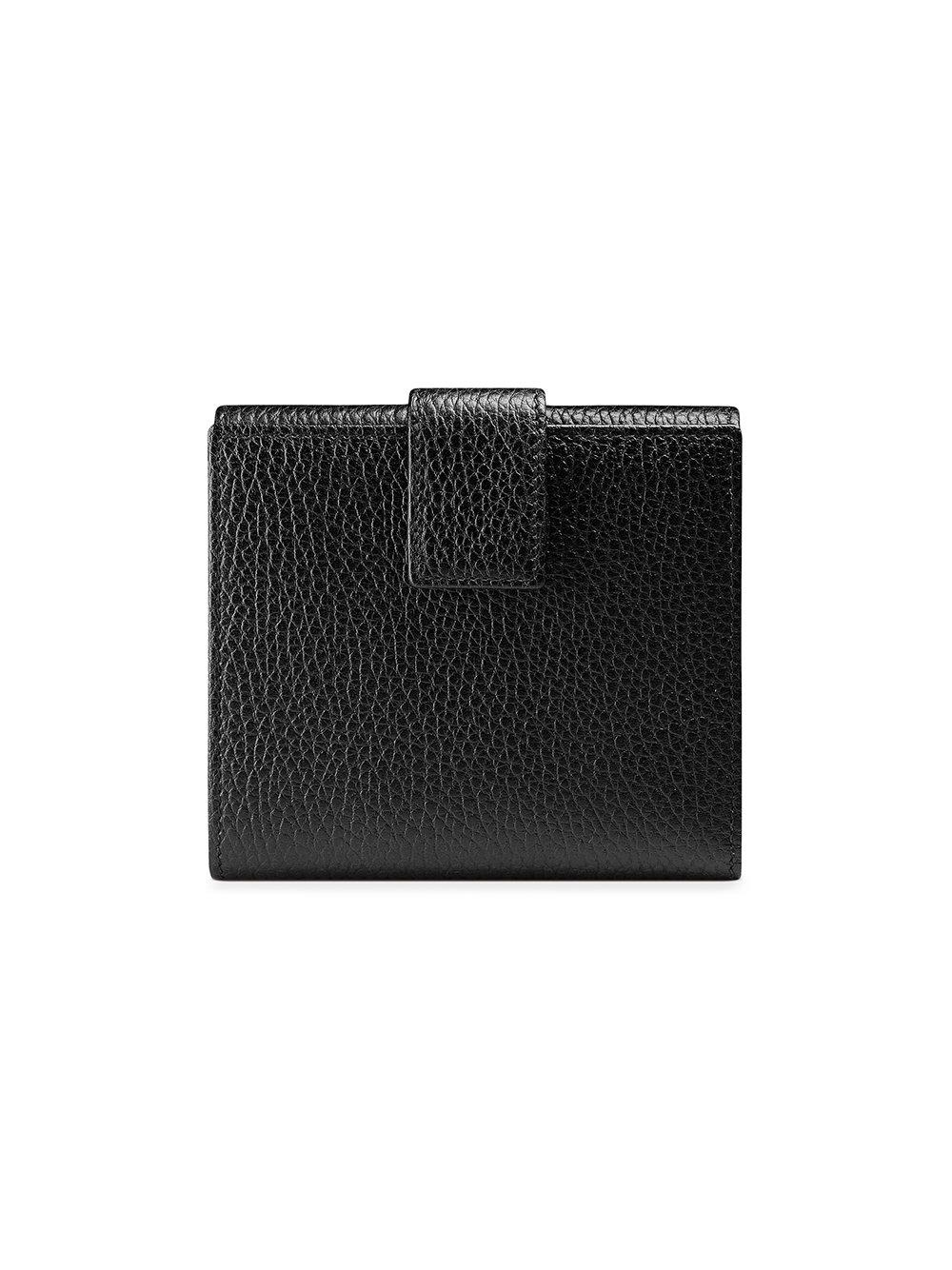 dbe7c35185e Lyst - Gucci Leather French Flap Wallet in Black - Save 19%