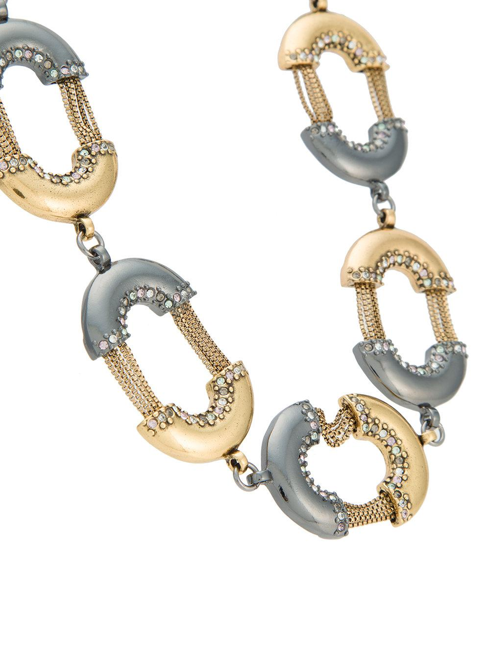 Camila Klein Bicolour Links Necklace in Metallic