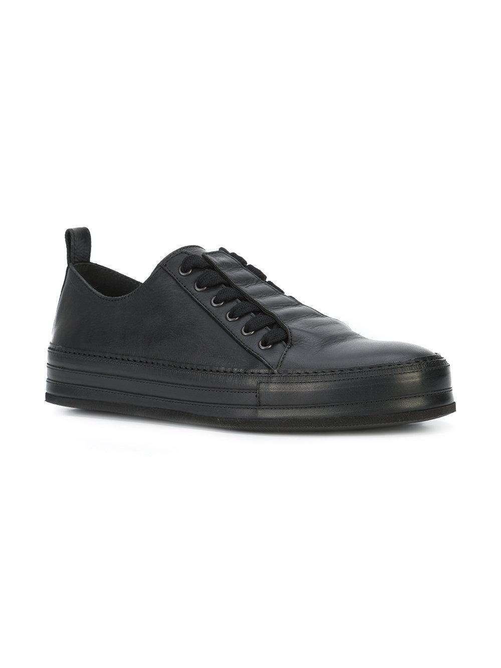Ann Demeulemeester Leather Top Sneakers in Black