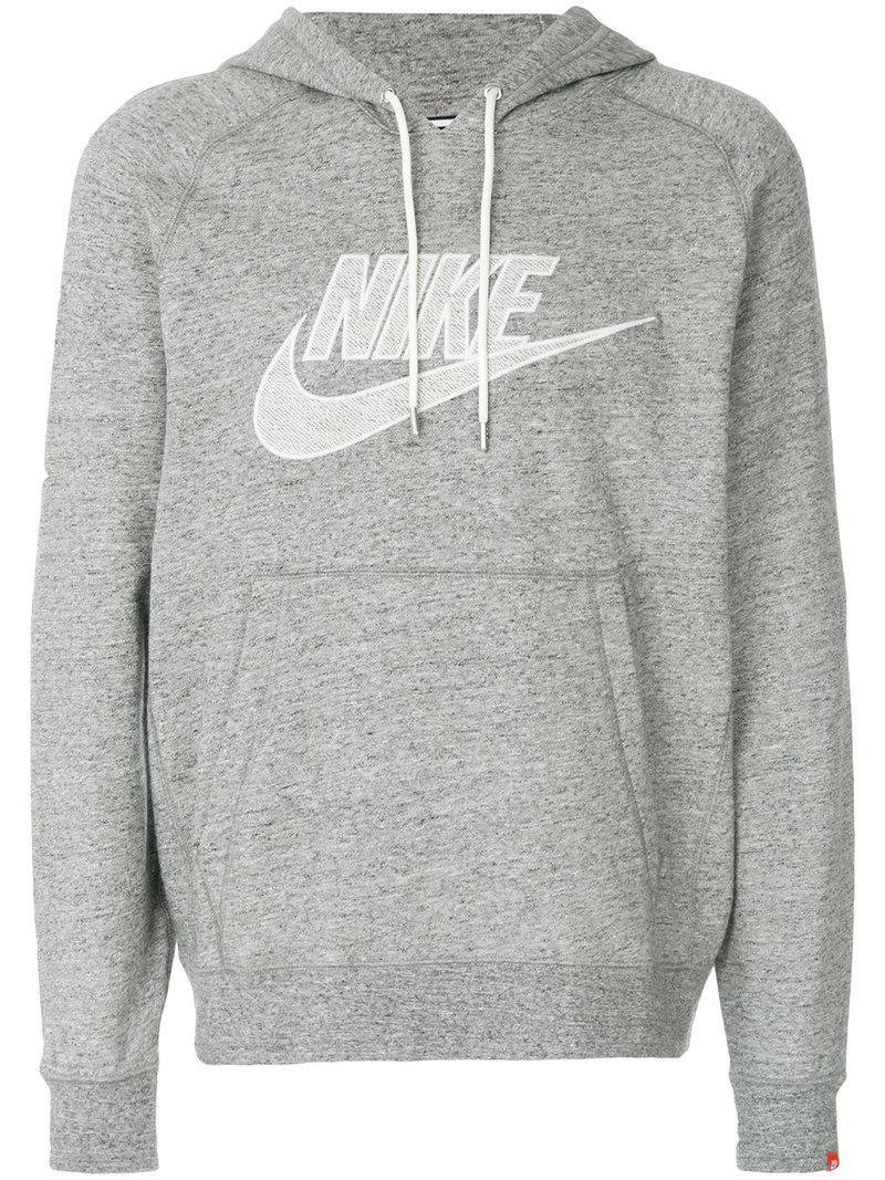 Nike Legacy Hoodie in Gray for Men - Lyst