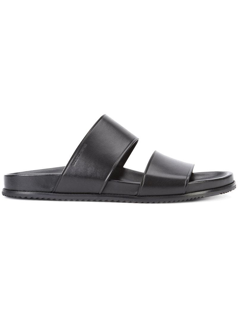double band sandals - Black Saint Laurent yXiWyNXTkX