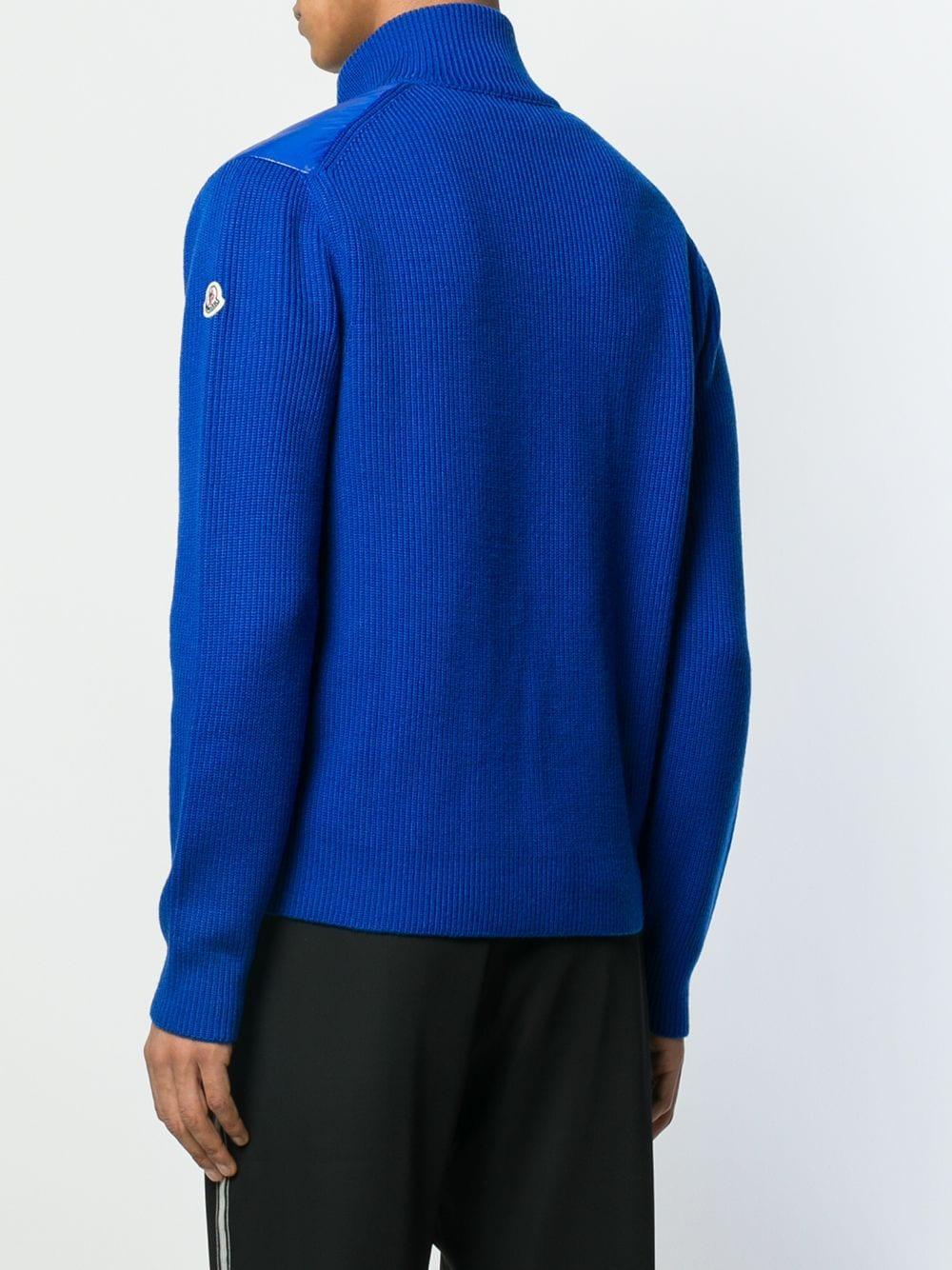 Moncler Wol Shell Donsjack in het Blauw voor heren