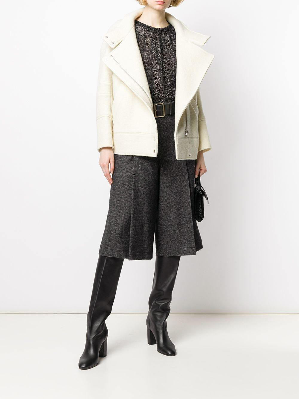 Abrigo ajustado con doble botonadura Ba&sh de Lana