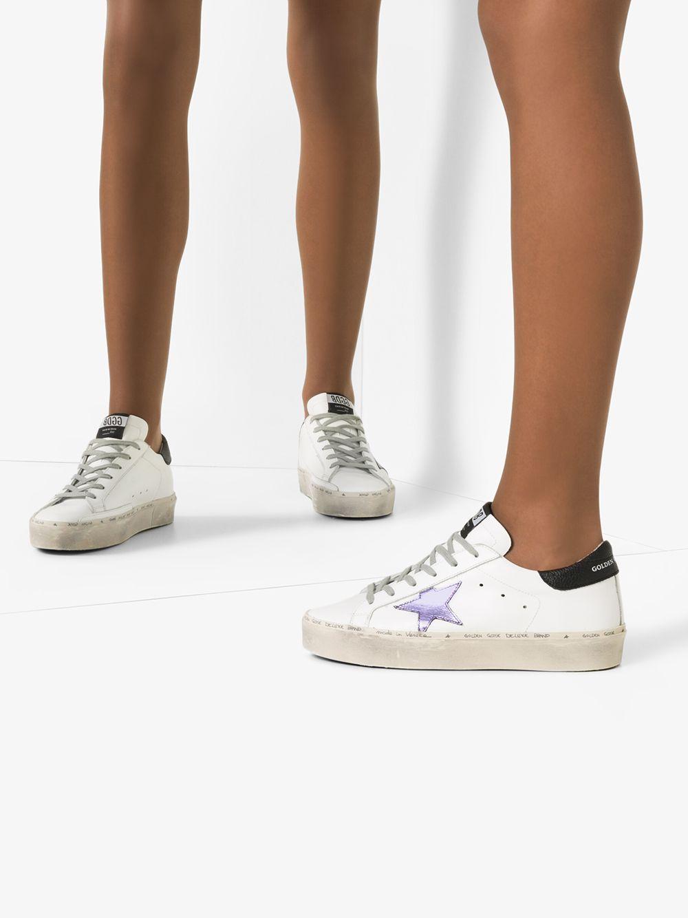 Zapatillas bajas Hi Star Golden Goose Deluxe Brand de Pluma de oca de color Blanco