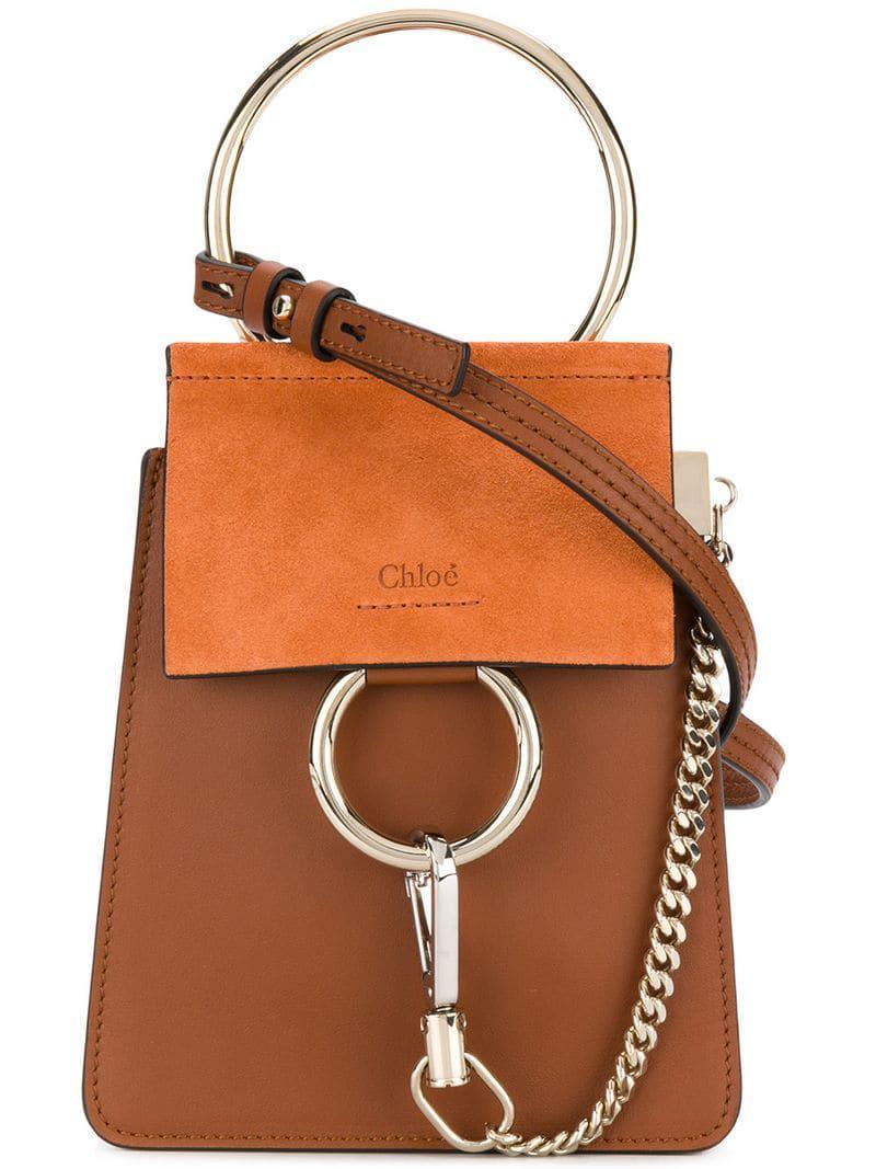 d2a342e89e Petit sac à main Faye Bracelet Chloé en coloris Marron - 3 % de ...