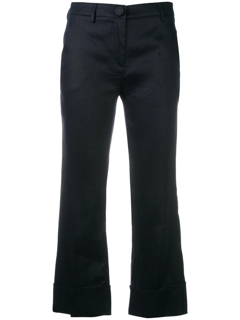 cropped trousers - Blue L'autre Chose Cheap Sale Hot Sale Cheap From China dohFJg5vK5