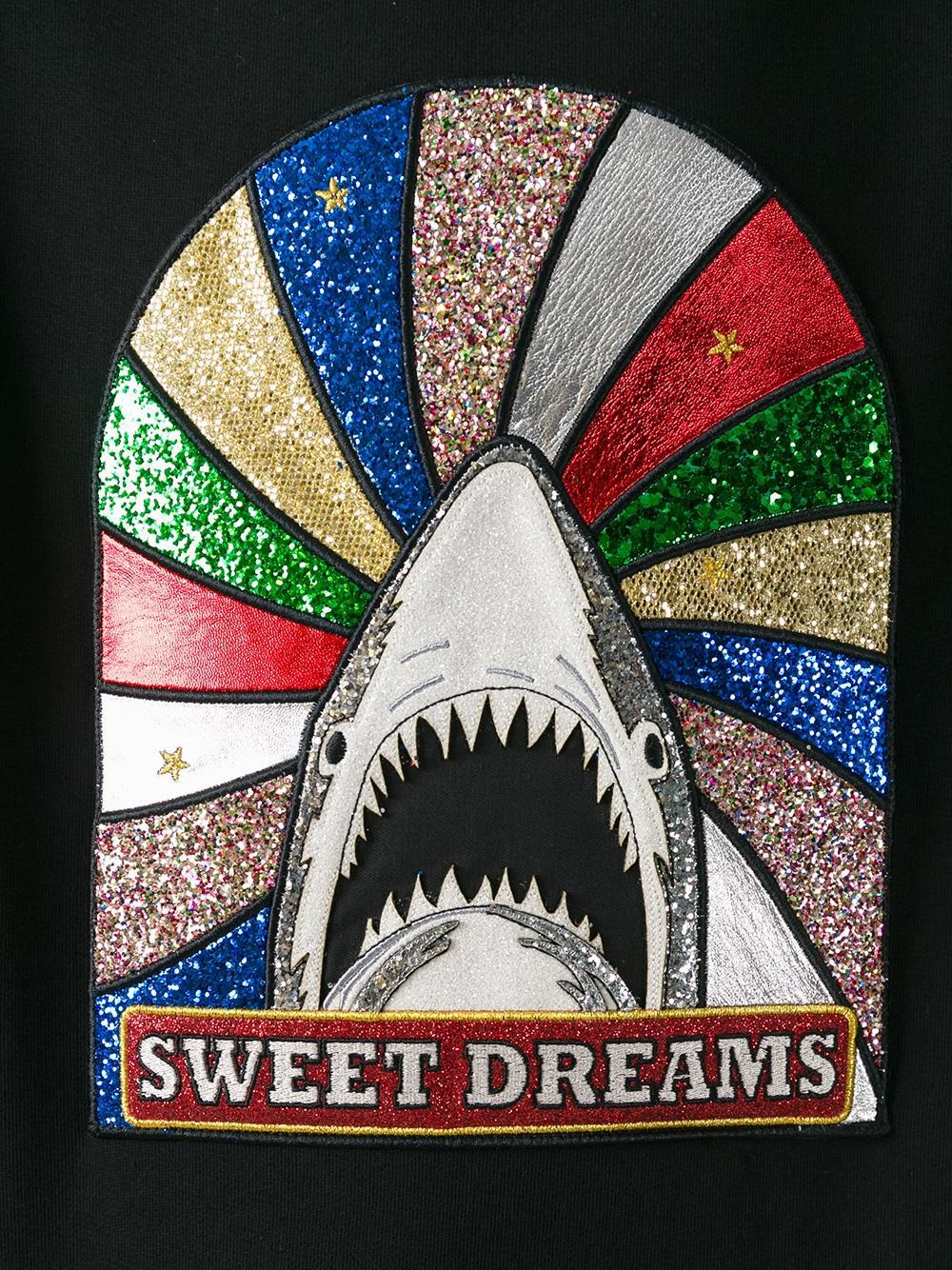 018d829624 Saint Laurent Cotton 'sweet Dreams' Shark Patch Sweatshirt in Black ...