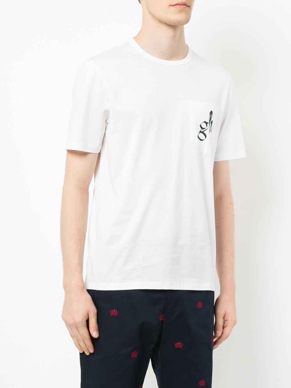 logo print T-shirt - White Gieves & Hawkes Comfortable Sale Online pmJvFj