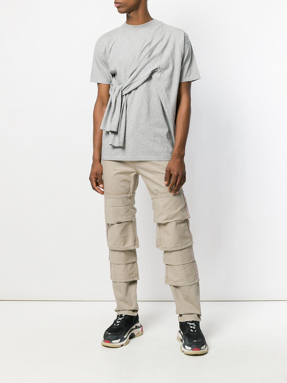 Y. Project Denim Layered Straight-leg Jeans in Natural for Men