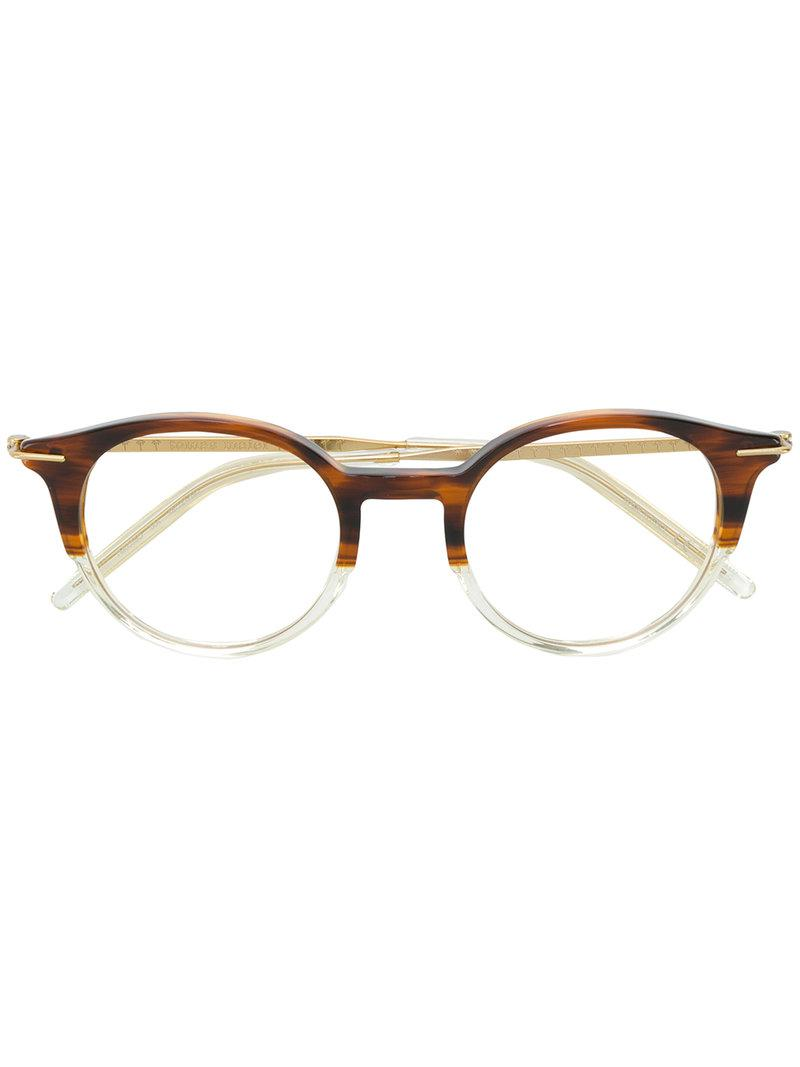 205bbc0d21a Tomas Maier Square Glasses in Brown - Lyst