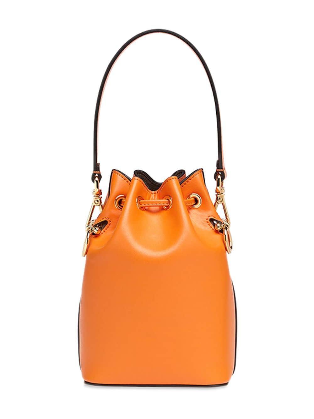 Fendi Mon Tresor Mini Bucket Bag in Orange - Lyst fa102b1998905