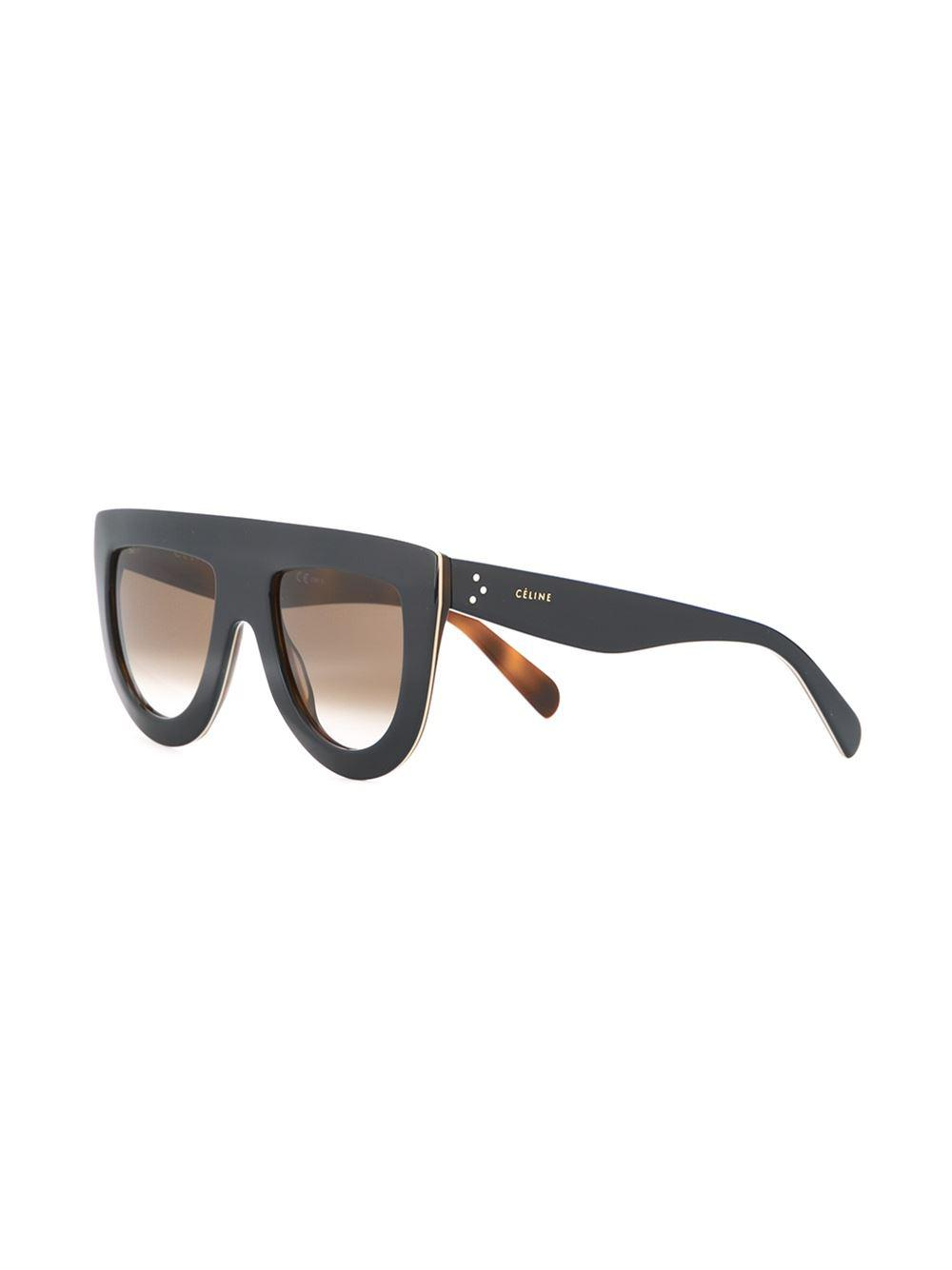 Celine Visor Frame Sunglasses in Blue (Black)