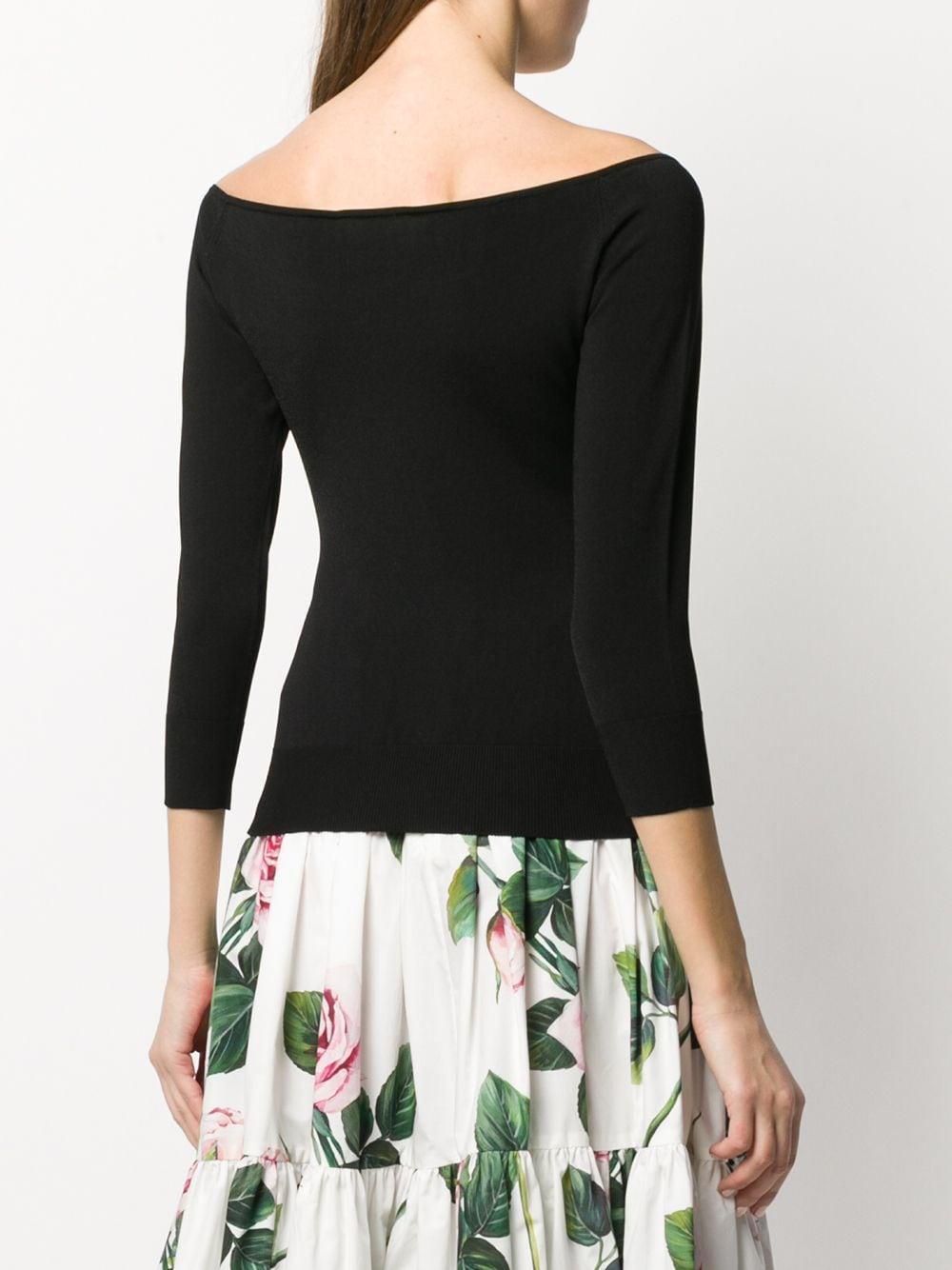 Top con hombros descubiertos Dolce & Gabbana de Tejido sintético de color Negro