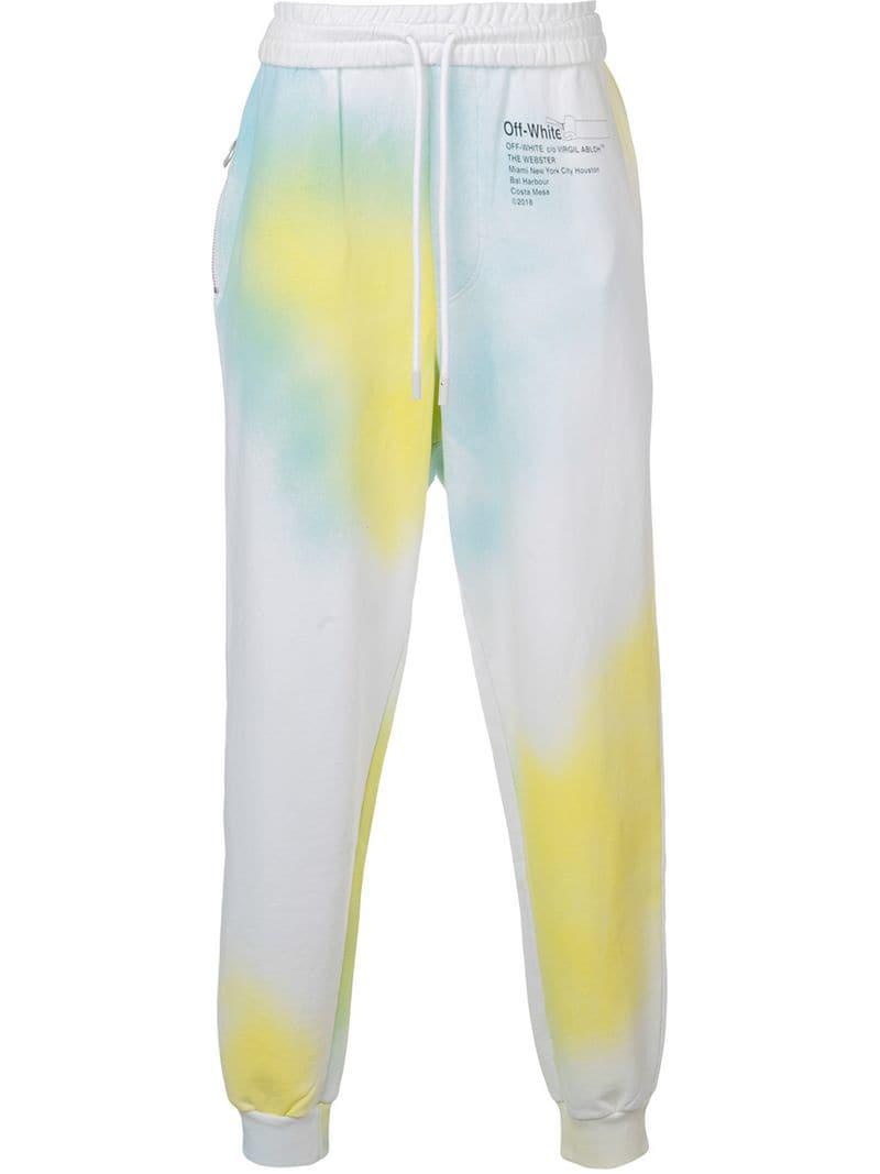 9beac904c15e Off-White c o Virgil Abloh X The Webster Tie-dye Track Pants in ...